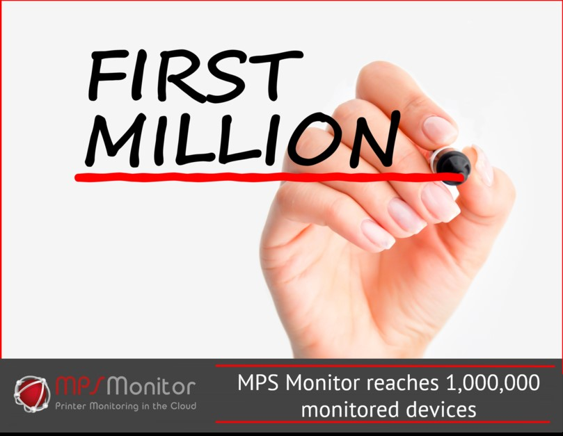 One million print devices now monitored by MPS Monitor
